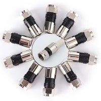 고품질 10pcs 새로운 도착 RG6 F 유형 압축 2.7cm 고품질 스냅 씰 플러그 커넥터