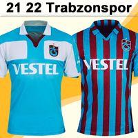 21 22 Maillots de football pour hommes Trabzonspor pour hommes A. Nwakaeme C. Ekub Gervinho B.Peres Home Blue Blue Rouge Chemise de football Source Sleeve Uniforms
