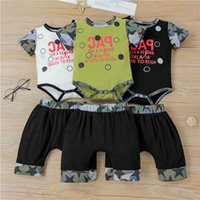 Boys Clothing Sets Boy Baby Suit Kids Outfits Children Summer Cotton Short Sleeve Rompers Jumpsuit Shorts Pants 2Pcs Infant Wear 0-2T B5281