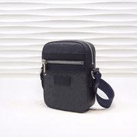Classic Mini Size Messenger Bags Preto / Cinza Canvas Couro Mens Ombro com Bolsa Bolsa Crossbody Bag 08