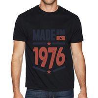 Men's T-Shirts Retro Graphic T-shirt Vintage 1976 Tri Blend T Shirt Cotton Top Mens Short-sleeved Fashion