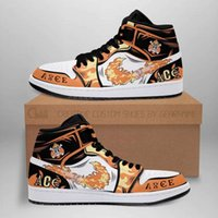 Customization Portgas D. Ace Shoes Boots Fire Fist Skill One Piece Anime Sneakers