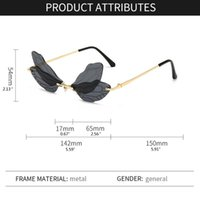 Sunglasses Frames Women Rimless With Fancy Dragonfly Wing Eyewear Shades Gift For Girl Female Women's Accessories
