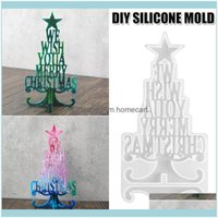 Decorations Festive Party Supplies Home & Gardendiy Crystal Series Epoxy Christmas Tree Letter Mold Decoration Resin Sile Md Drop Delivery 2
