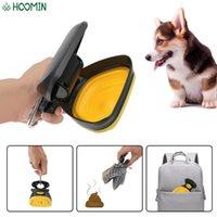 Dog Viaggio all'aperto all'aperto Pet portatile Outdoor Garbage Holder Dispenser Dispenser ABS Poop Scoop con 1 rotolo Borse decomponibili Scarto animale P