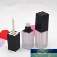 فارغة الأسود السائل أحمر الشفاه إعادة الملء زجاجة diy التجميل الشفاه لمعان أنبوب بلسم حاوية السفر حجم