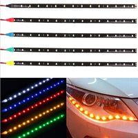 30cm 60cm 90cm 120cm 다채로운 유연한 자동차 LED 스트립 빛 12V 스타일링 인테리어 분위기 장식 램프