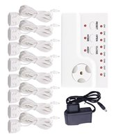 Smart Home Sensor Water Leakage Detector Control Unit With 8pcs Cables And 1pc Adapter For Overflow Protection