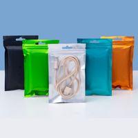 Um lado claro Colorido Colorido Zíper Mylar Bag 8.5 * 13cm 9 * 15cm 10 * 18 cm Folha de alumínio cheiro de alumínio Bolsas de jóias