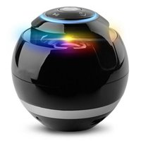 Fashion design Smart Bluetooth speakers 7 color LED light emitting 3D stereo surround sound effect bass denoise HD call support TF card