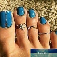 DoreenBeads Fashion Copper Open Knuckle Toe Rings Set For Women Silver Color Infinity Symbol Arrowhead 1 Set ( 3 PCs Set)