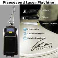 Skin Rejuvenation Picosecond Laser Beauty Equipment Vertical Scars Treatment Pigmentation Removal 3 Probes Available High Power