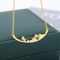 Chains Hollow Snowflake Pendant Necklace For Women Gold Sliver Color Stainless Steel Winter Sports Snowboard Femme Jewelry