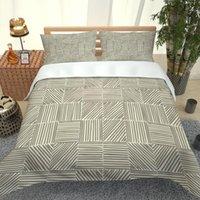 Moda Gris Impreso Ropa de cama Hogar Textiles Cama Individual Cubierta Doble Doble Funda Hoja Hoja Chica Chica Conjunto Conjuntos