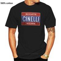 소년 티 티 새로운 인기있는 자전거 레트로 Biciclette Cinelli Milano Mens 블랙 티셔츠 S-3XLCHILDREN의 의류