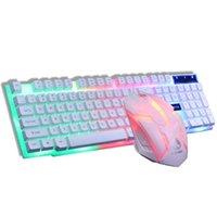 Tastiera Mouse Combos GTX300 Wired RGB Blacklight 1600DPI Modalità di lavoro poelettrica Sospensione Meccanica Meccanica Ergonomico