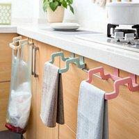 Hooks & Rails Creative Plastic Door Back Garbage Bag Hanger Multifunctional Kitchen Cabinet Rear Rag Rack Storage Hook