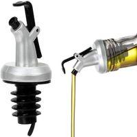 Olive Oil Sprayer Liquor Dispenser ABS Lock Wine Pourers Flip Top Drink Wine Stopper Leak-proof Nozzle Kitchen Tools
