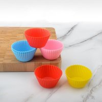 Muffin Paper Cup Mold Epoxy Resin Silicone Multi Colours Baking Molds Muffins Biscuit Cake Bread Waffle Mould 0 38jd L2 KHJU EYR0