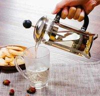 350 ML Ev Uygun Basit Pratik Paslanmaz Çelik Filtre ile Net Kahve Pot Çay Seti Mutfak Yemek Odası Bar Araçları