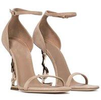 التصميم الشهير صندل أوفير الأحذية مشبك إبزيم رباط الكاحل خطابات معدنية كعب جلدية وحيد كاساندرا سيدة مضخات رائعة خصم الأحذية