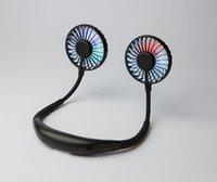 Çift başlı led ışık USB şarj aromaterapi tembel asılı boyun fan üç kuşak giyebilir
