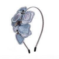 Sequins Hairbands 2020 New Embroidery Hoop Pearl Women Wedding Party Headband Handmade Pink Hair Accessories Vintage Headwear