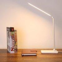Настольные лампы Бесступенчатая диспецитная стойка для чтения света складной складной вращающийся сенсорный выключатель светодиодная лампа DC 5V USB зарядки порта