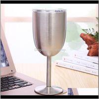 Engrenagem de hidratação e camping caminhadas esportes outdoors10oz copos de vinho de vinho de aço inoxidável champanhe cálice com tampa caneca de café kitch