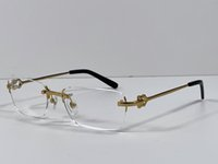 Moda occhiali da vista prescrizione 280088 antimata cornice oro 18 carati Occhiali ottici Occhiali Cancella Lente semplice stile business per gli uomini con custodia