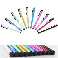 معدن شاشة تعمل باللمس بالسعة القلم القلم للهاتف وسادة الرسم للكمبيوتر اللوحي الألوان المختلطة عشوائية