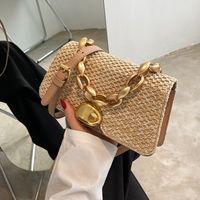 HBP Ladies Design Straw Woven Messenger Bag 2021 New Brand Simple Fashion Luxury Summer Seaside Vacation Pure Color Handbag Travel