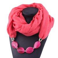 Mulheres algodão colar de linho pingente cachecol estilo étnico colar macio lenço pescoço lenço lenço no pescoço acessórios