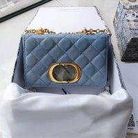 5A + Top Qualität Crossbody Bag Checker Plaid Patent Leder Handtasche Frauen Luxurys Designer Taschen 2021 Klassische Mode Gold Kette Kleine Klappe Pochette Kupplung Geldbörse