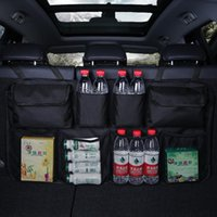 Car Organizer Rear Seat Back Storage Bag Multi Hanging Nets Pocket Trunk Auto Stowing Tidying Interior Accessories Supplies