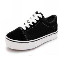 Clásicos moda vieja skool lienzo hombres mujeres zapatos casuales clásico negro blanco patineta cómodo zapato plano