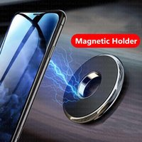 Cell Phone Mounts & Holders Magnetic Car Holder Metal Strong Magnet Dashboard Stand Mobile Mount Support For Wall