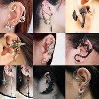 Yutong coréen gothique bricolage noir chauve-oreilles en forme de chauve d'oreille pour femmes filles punk dragon serpent papillon AX Vintage Boucles d'oreilles Vintage Cadeaux de fête Bijoux