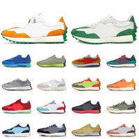 Оптовая продажа 2021 новейший баланс 327 для мужской женской беговой обуви замка рок яркий апельсин Неоновые подошвы ВМС белый дышащий открытый теннис кроссовки