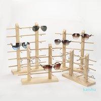 متعدد الطبقات الخشب مكبرة عرض رف الجرف النظارات تظهر حامل حامل المجوهرات لمتولي أزواج النظارات معرض