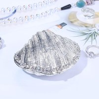Decorative Objects & Figurines H&D Silver Mussel Hinged Trinket Box Wedding Ring Holder Metal Seashell Figurine For Display