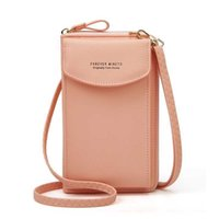2021 new women wallet mobile phone bag ladies double-layer coin purse card holder retro tide single shoulder crossbody card bag X0728