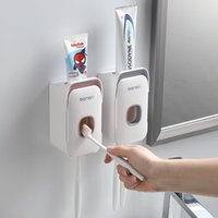 Type Toothpaste Squeezer Wall-mounted Punch-free Lazy Squeeze Dispenser Automatic 3 Colors Toothbrush Holders