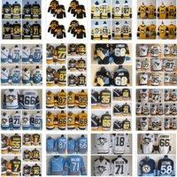 Pittsburgh Penguins Jersey 87 Sidney Crosby 71 Evgeni Malkin Phil Kessel Kris Letang Lemieux Matt Murray Guentzel Hóquei Jerseys