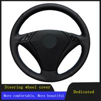 Steering Wheel Covers Car Products DIY Accessories Cover Black Artificial Leather For 530 523 523li 525 520li 535 545i E60