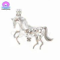 Moda Unicornio Amor Akoya Pearls Jaulas Plateado Colgantes Collares de Navidad Para Mujeres Hombres Niños