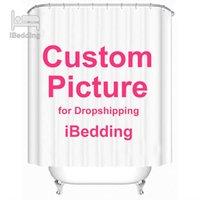 Ibedding Özel Duş Perdesi Banyo Su Geçirmez Perdeler Özelleştirilmiş Po Polyester Banyo Dekor ile Kanca Pod Bırak 210609