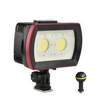 Câmera impermeável LED PO FILL DE VÍDEO Lâmpada de luz 40M POgrafia de mergulho subaquático Iluminação 3500LM para flashes de habitação