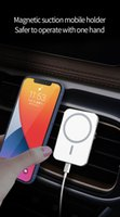 Magnetic Car Wireless Charger for iPhone 8 x plus 11 12 Pro Max Mini samsung huawei 15W Fast Charging Car Holder with Retail Box