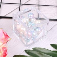 Gift Wrap 1pc Plastic Clear Box Wedding Candy Transparent Can Open Favor Boxes Baby Shower Sedding Souvenirs Square